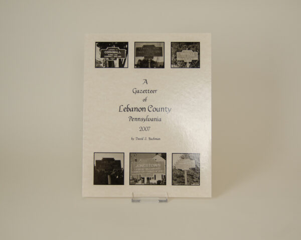 A Gazetteer of Lebanon County, Pennsylvania